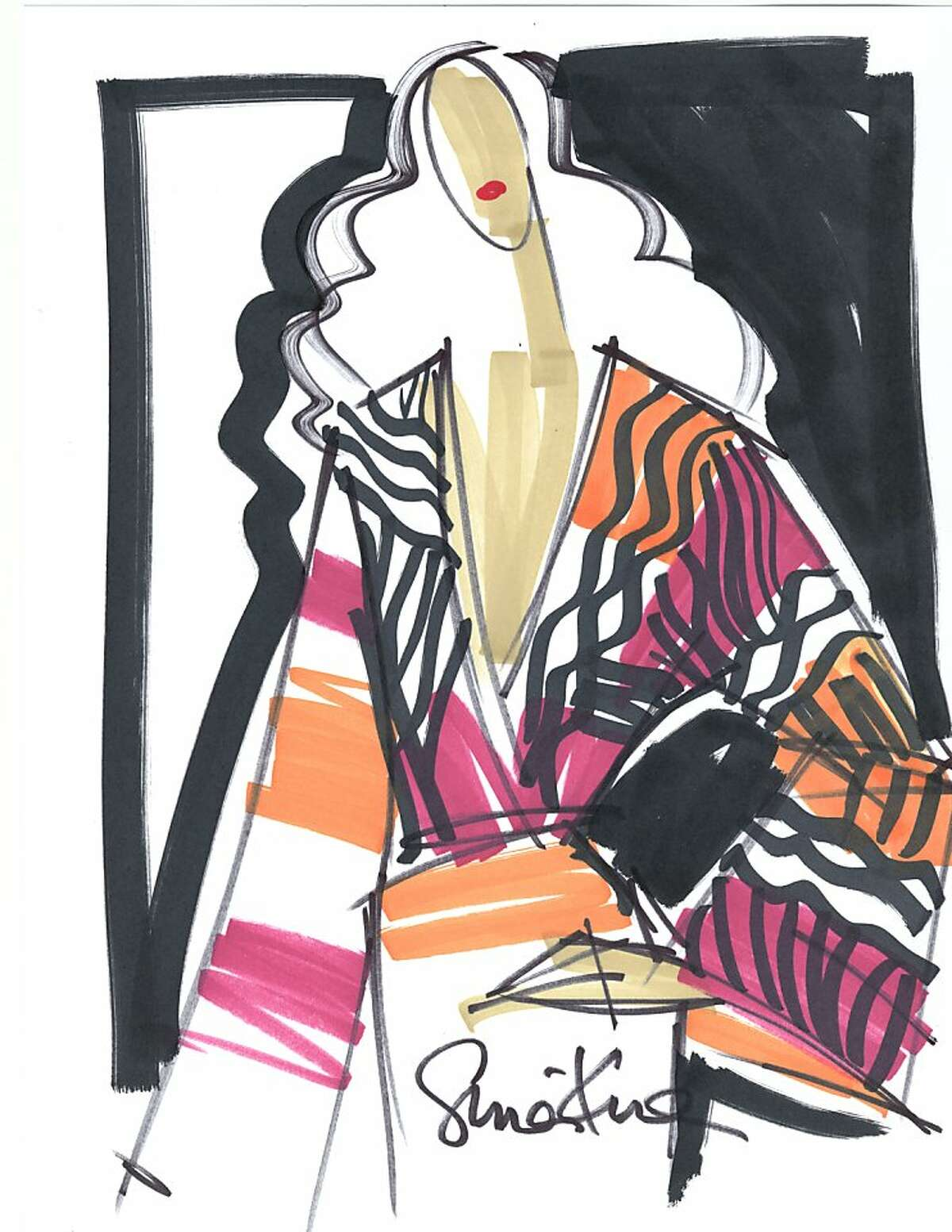 Beloved British brand Issa will do a special collection for Banana Republic. Here is a sketch of a kimono.