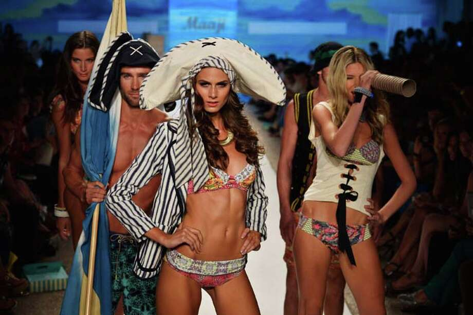 MIAMI, FL - JULY 21:  Models walk the runway at the Maaji Swimwear show during Mercedes-Benz Fashion Week Swim 2014 at Cabana Grande at the Raleigh on July 21, 2013 in Miami, Florida. Photo: Frazer Harrison, Getty Images For Maaji Swimwear / 2013 Getty Images