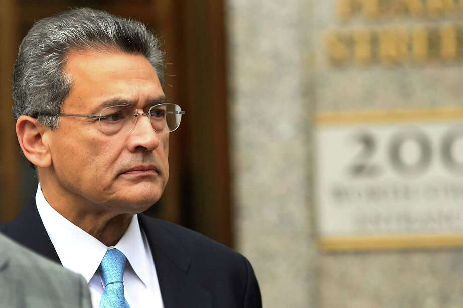 Rajat Gupta, former Goldman Sachs director and former senior partner at McKinsey & Co., exits Federal court after being sentenced to two years in prison on October 24, 2012 in New York City. Photo: Spencer Platt, Spencer Platt/Getty Images / 2012 Getty Images