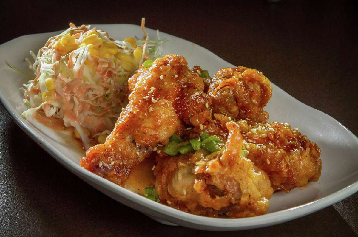 You can get your chicken wings with soy and garlic sauce at Gangnam Chicken in San Mateo.