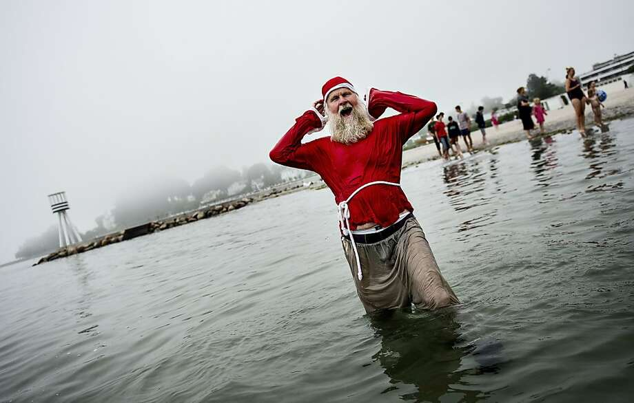 Goodbye, bowl-of-jelly belly: A slimmed-down St. Nick takes a 
