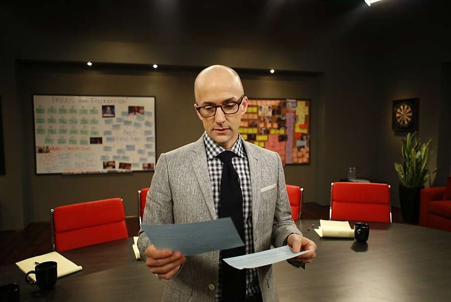 "Jim Rash hosts ""The Writers' Room"" on Sundance Channel. Photo: Mark Peterson, Sundane Channel"