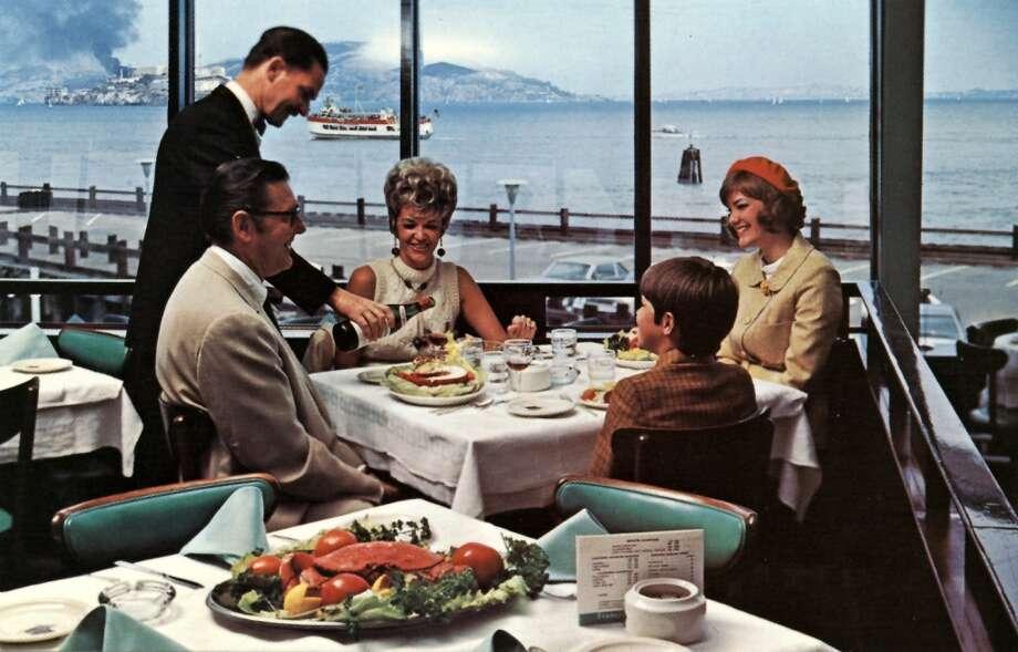 Postcard of the Franciscan Restaurant,  circa 1960