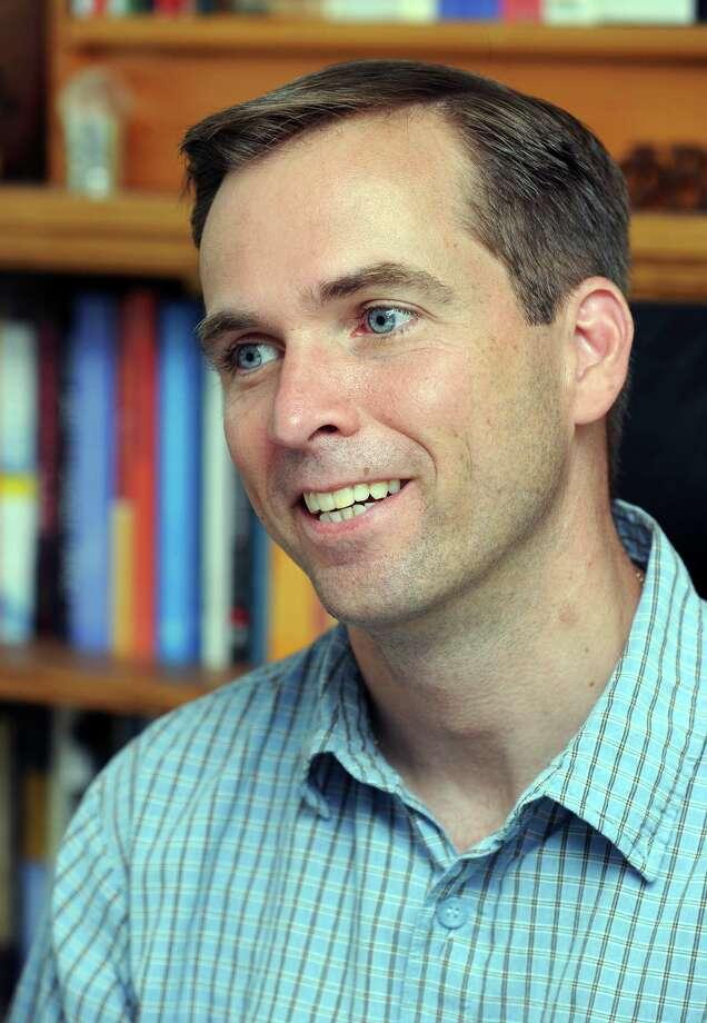 Chris Kukk of Brookfield, a WestConn professor. Photo: Carol Kaliff, ST / The News-Times