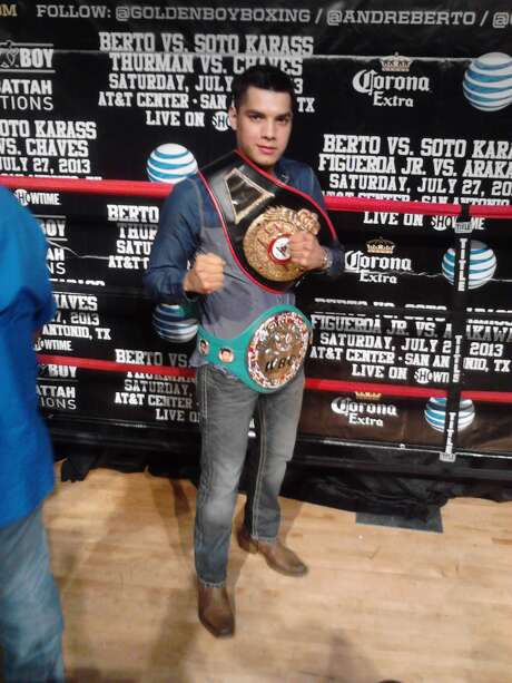 Omar Figueroa poses at a media event promoting the fight at end of May 2013 in Weslaco. Photo: San Antonio Express-News