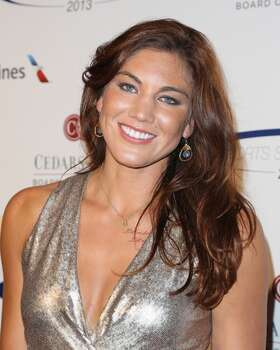 Professional Soccer Player Hope Solo  attends the 28th Annual Sports Spectacular Anniversary Gala at the Hyatt Regency Century Plaza on May 19, 2013 in Century City, California. Photo: Paul Archuleta, FilmMagic