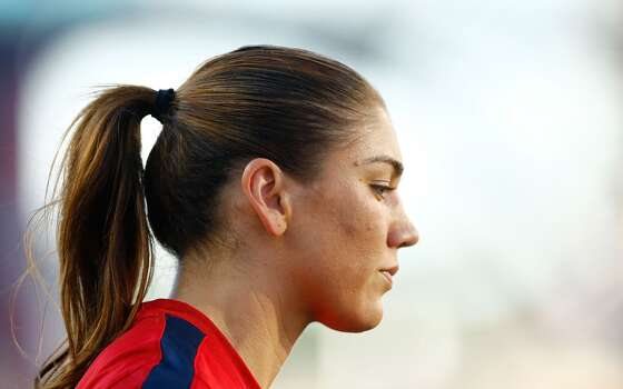 US Women's National goalkeeper Hope Solo #1 warms up prior to the game against Korea Republic at Gillette Stadium on June 15, 2013 in Foxboro, Massachusetts. Photo: Jared Wickerham, Getty Images