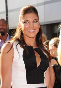 USA soccer player Hope Solo  arrives at the 2013 ESPY Awards at Nokia Theatre L.A. Live on July 17, 2013 in Los Angeles, California. Photo: Jeffrey Mayer, WireImage
