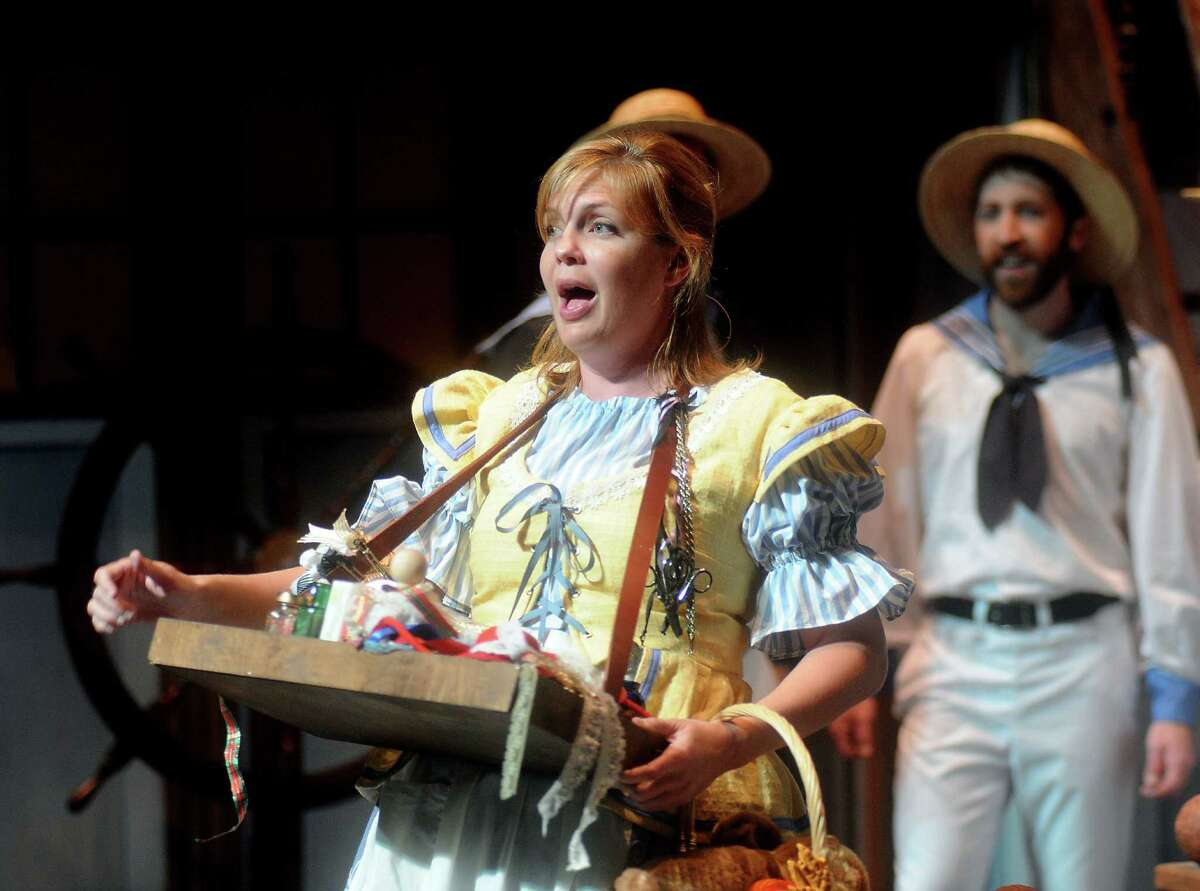 Sarah Lee as Buttercup at a dress rehearsal of the Gilbert and Sullivan comedy