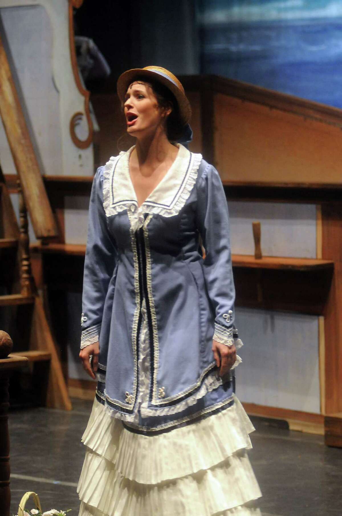 Amanda Kingston as Josephine at a dress rehearsal of the Gilbert and Sullivan comedy