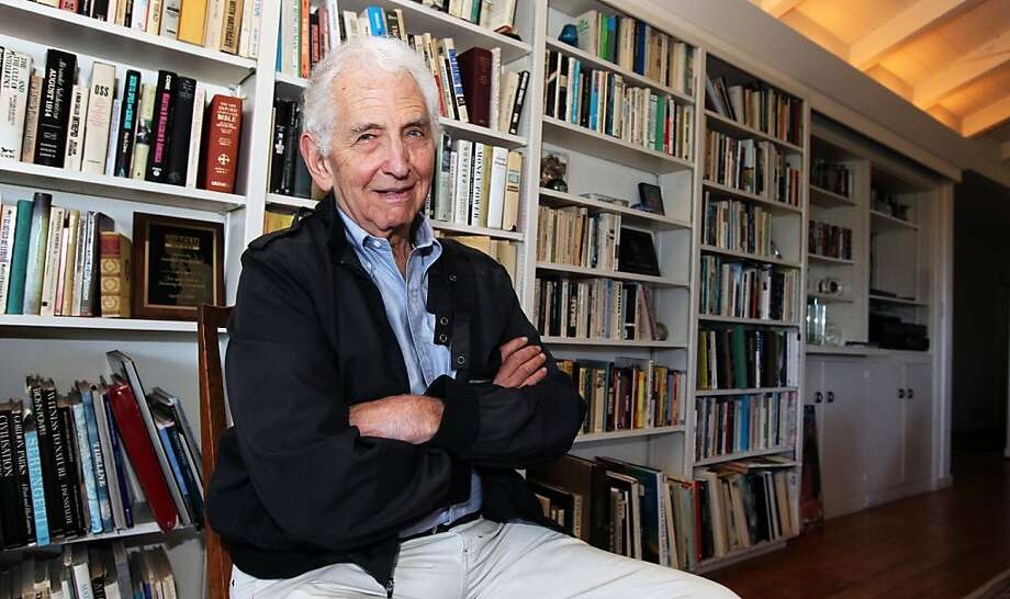 "Daniel Ellsberg works in his home office in Kensington, where he is writing a book on reducing nuclear danger. The ""Pentagon Papers"" whistle-blower is now a leading advocate for government-secrets leakers. Photo: Lance Iversen, The Chronicle"