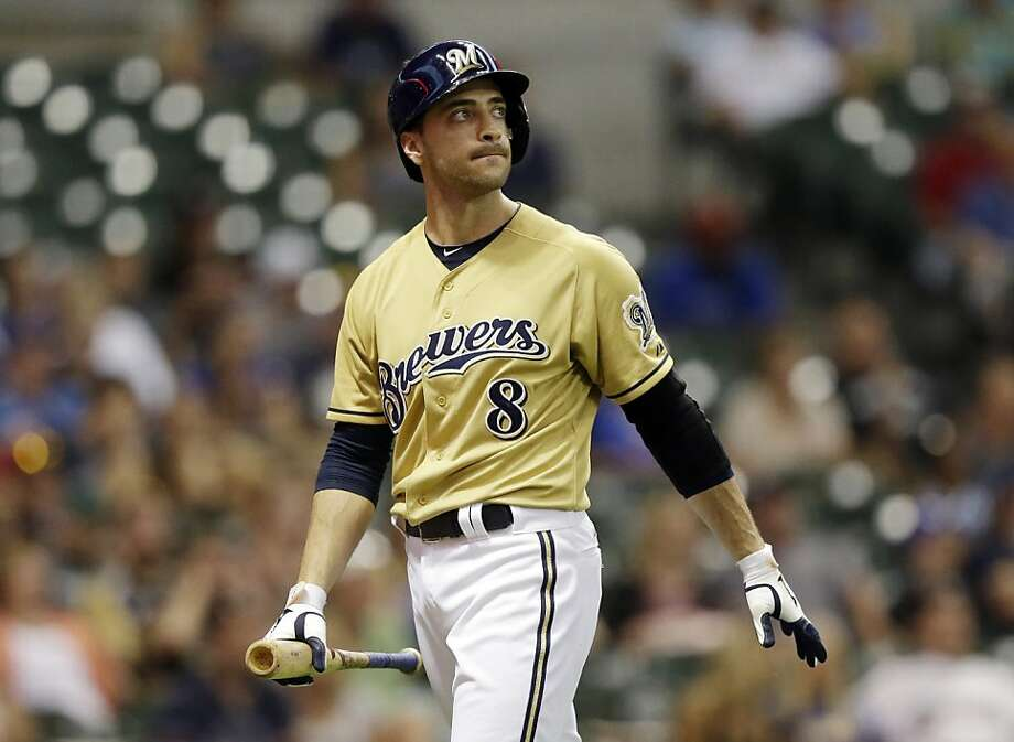 Milwaukee left fielder Ryan Braun avoided a 50-game ban last season on a technicality regarding how his test was handled. Photo: Morry Gash, Associated Press
