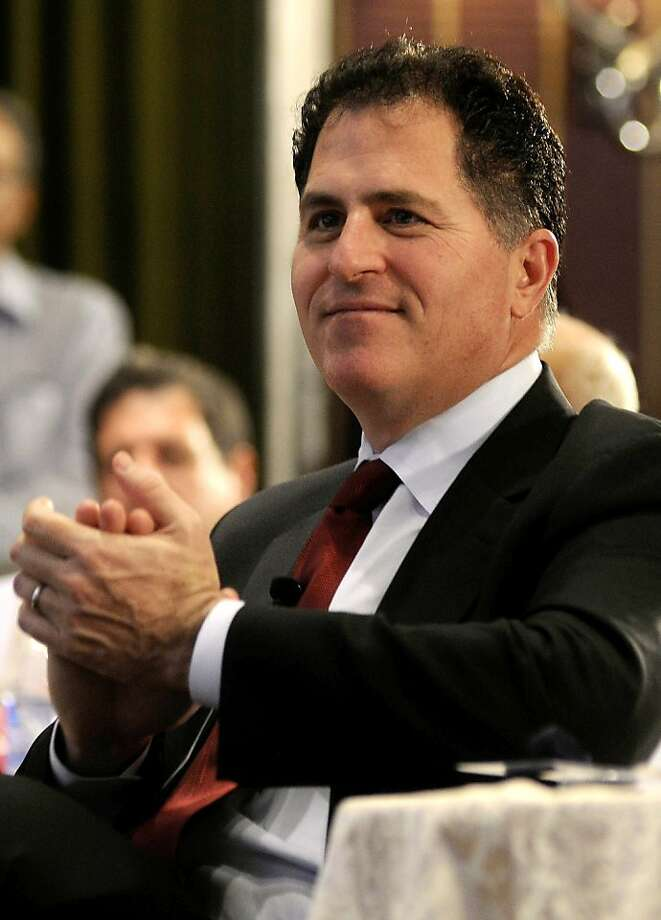 Michael Dell disagrees with Silver Lake Management on breakup fees if the buyout fails. Photo: Str, AFP/Getty Images