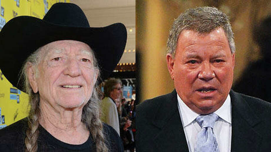 William Shatner is 82 years old. Willie Nelson is 80.