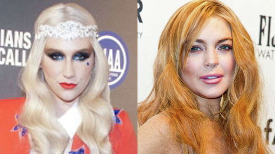 Who's older, Ke$ha or Lindsay Lohan? (Leigh Vogel/Getty and Gilbert Carrasquillo/Getty)