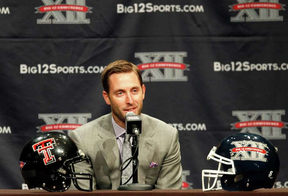 In his first year as Texas Tech's head coach, Kliff Kingsbury is still getting used to the non-football duties his new job entails. Photo: TIM SHARP, FRE / FR62992 AP