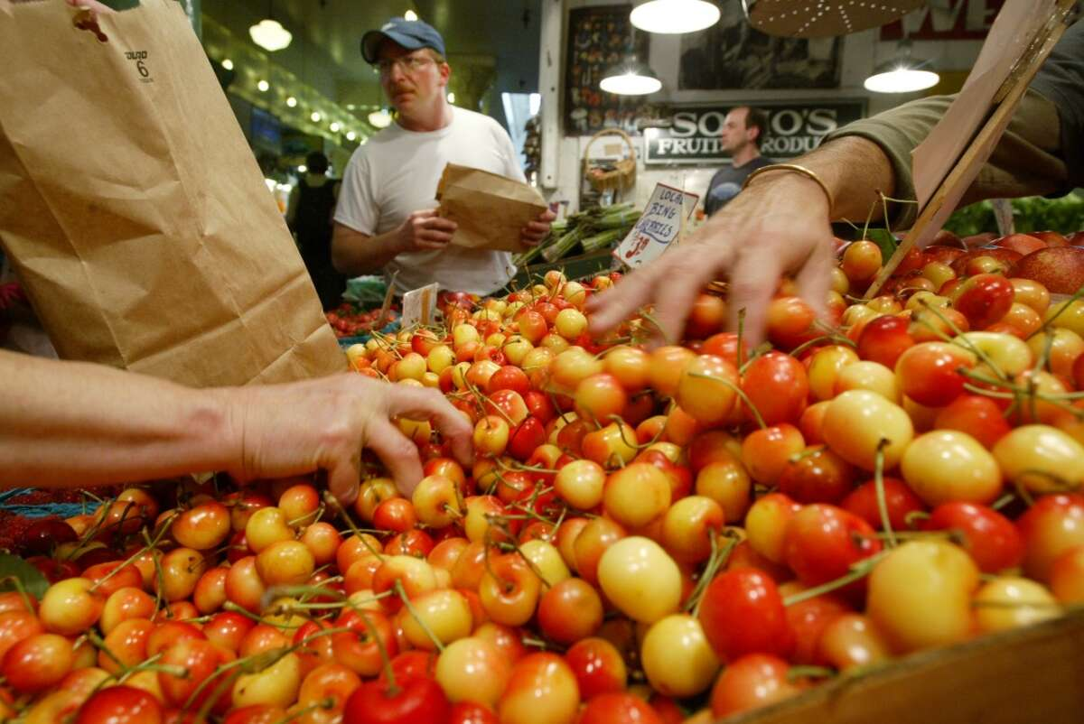 Rainier cherries Grab those two-toned sweet delights every summer at your neighborhood farmer's market.