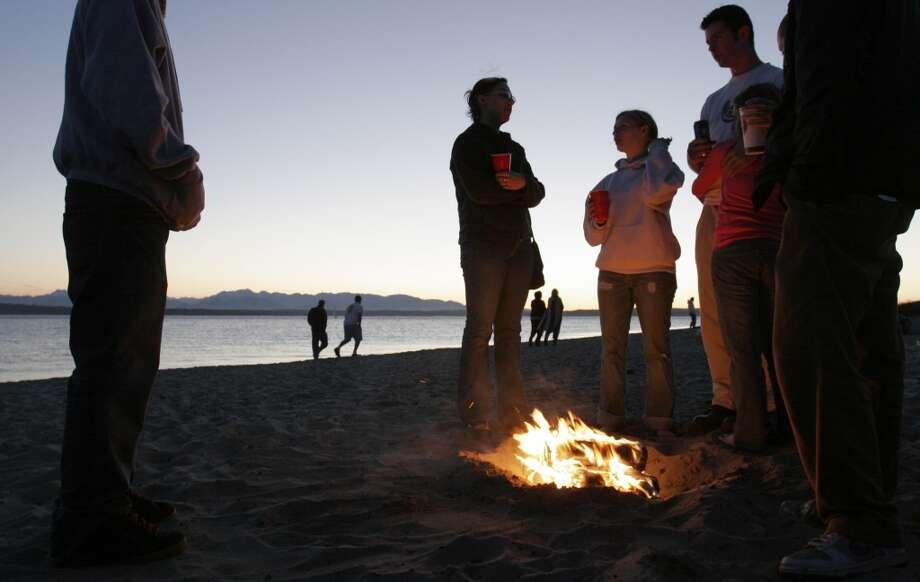 Love: Bonfires at Golden Gardens.