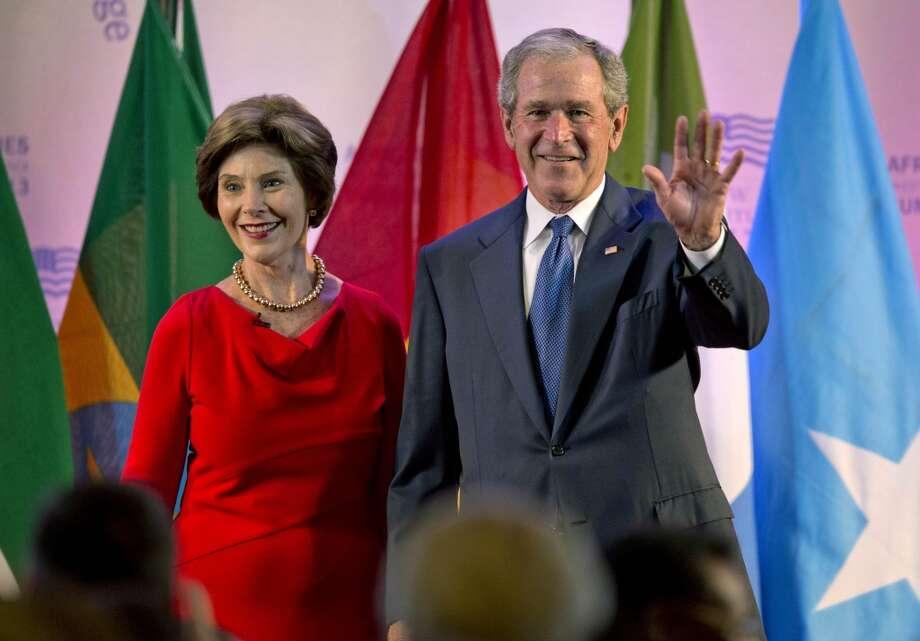 Same with former President George W. Bush and former U.S. first lady Laura Bush.