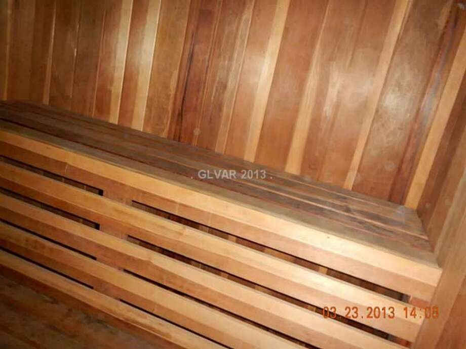 Sauna, perhaps the only place in the home you don't realize immediately you're under the Earth. All photos via MLS