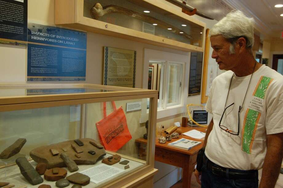 Albert Morita, seen at the Lāna'i Culture and Heritage Center, is among Native Hawaiians expressing concern about Larry Ellison's plans potentially changing the island's character.