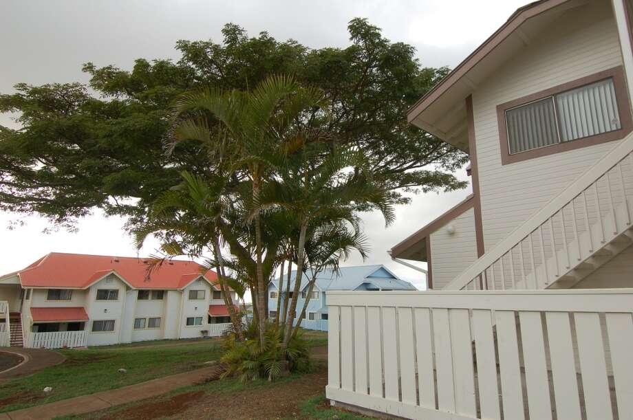 Most people on the island work for Ellison's Pūlama Lāna'i, formerly Lāna'i Resorts, and some receive low-cost worker housing such as these apartments that the company recently renovated.