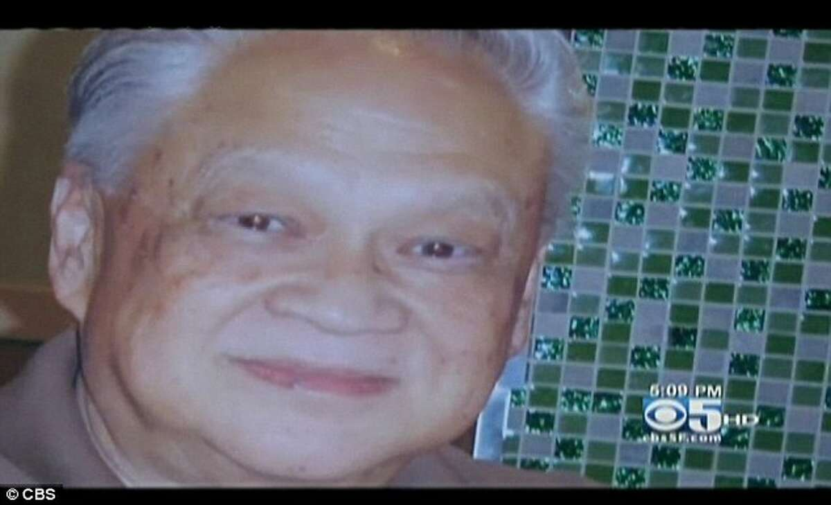 Chri Bucchere hit Sutchi Hui of San Bruno, who was walking with his wife crossing Castro at Market St on March 29, 2012.