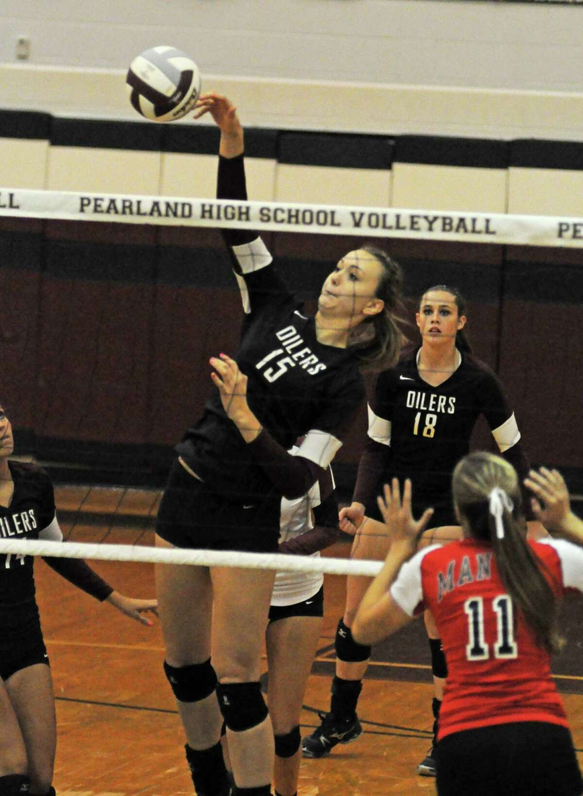 Pearland's Cassidy Nussman (15) is among the top talent on area teams set to compete in the Texas Volleyball Invitational in August.