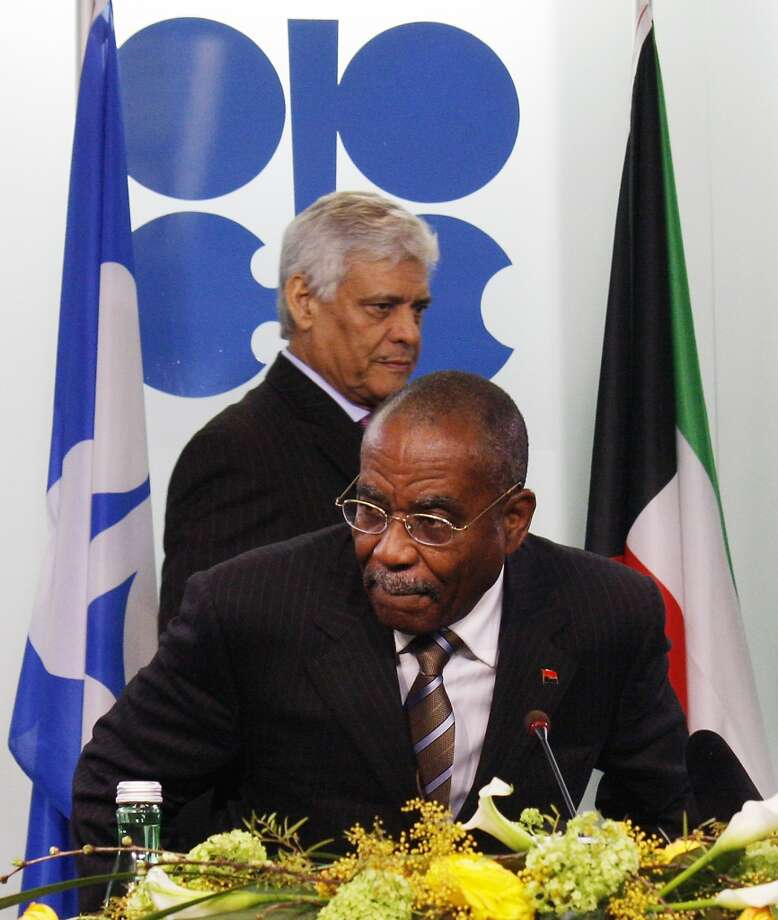6. Angola  Jan. - June 2013: $33 billion 2012: $68 billion  [Photo: Secretary-General of OPEC Abdalla Salem El Badri walks by Minister of Petroleum Jose Maria Botelho de Vasconcelos from Angola at a news conference following a meeting of the ministers of the Organization of Petroleum Exporting Countries at its headquarters in Vienna, Austria, on Sunday, March 15, 2009.] Photo: RONALD ZAK, AP