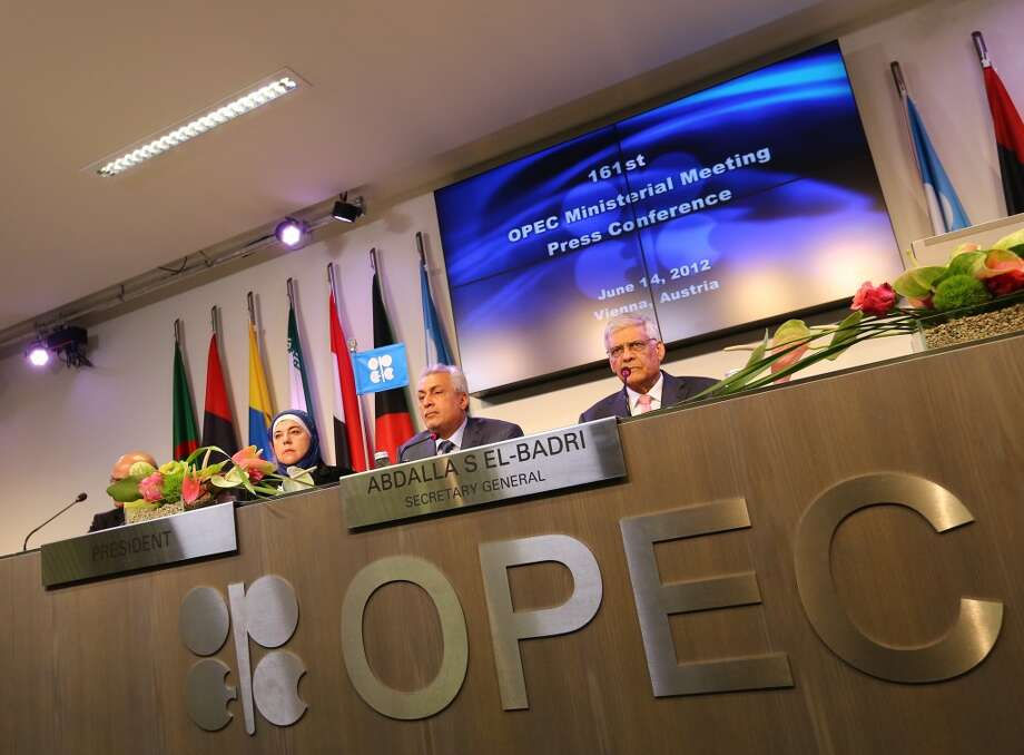 OPEC  Jan. - June 2013: $466 billion 2012: $982 billion  [Photo: Iraq's Minister of Oil and President of the Organization of the Petroleum Exporting Countries (OPEC) conference, Abdul-Kareem Luaibi Bahedh (2R) and OPEC Secretary General Abdalla Salem El-Badri (R) attend a press conference at the end of the 161st meeting of the OPEC in Vienna, on June 14, 2012. ] Photo: ALEXANDER KLEIN, AFP/Getty Images