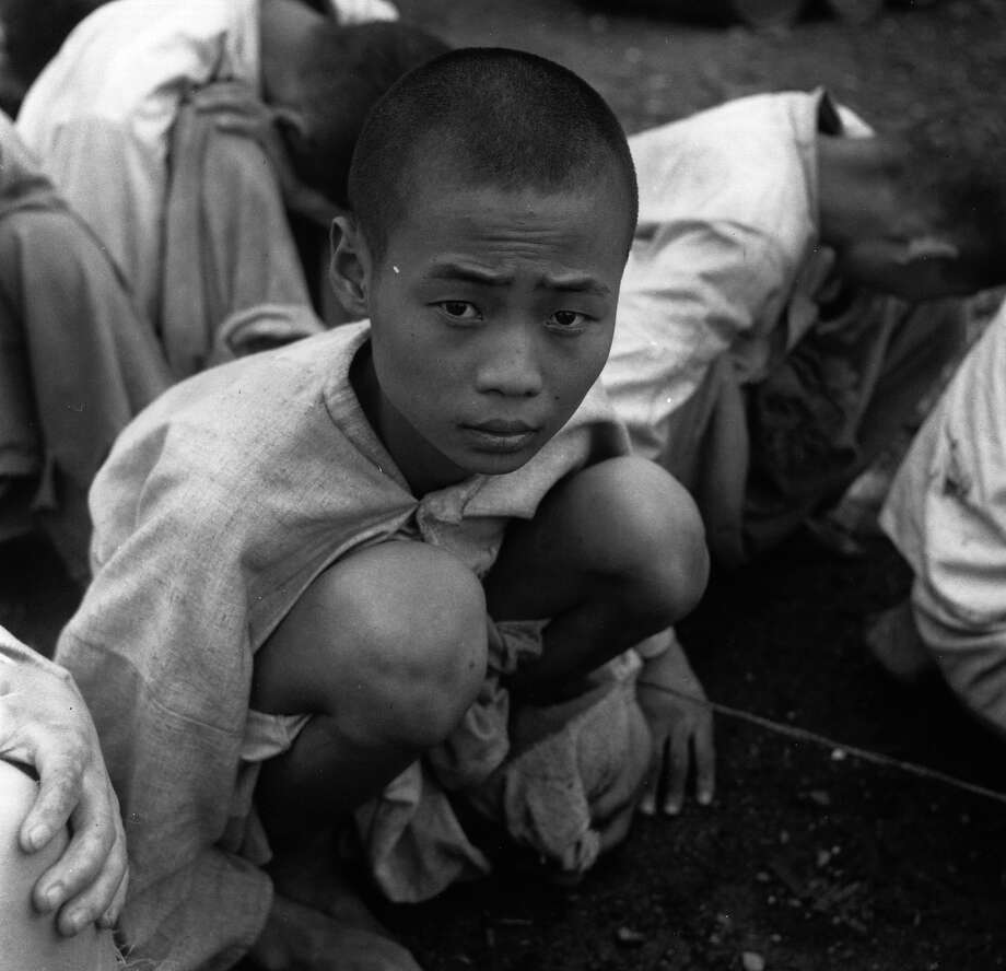 South Korean political prisoners in Pusan, during the Korean War. Photo: Bert Hardy, Getty Images / Picture Post