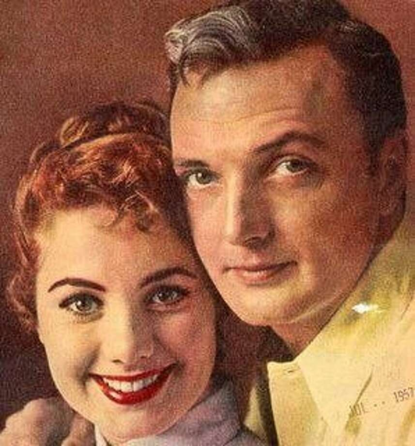 "Shirley Jones in 1957 with first husband Jack Cassidy, whom she describes as a ""sexual Svengali."" Photo: File Photo"