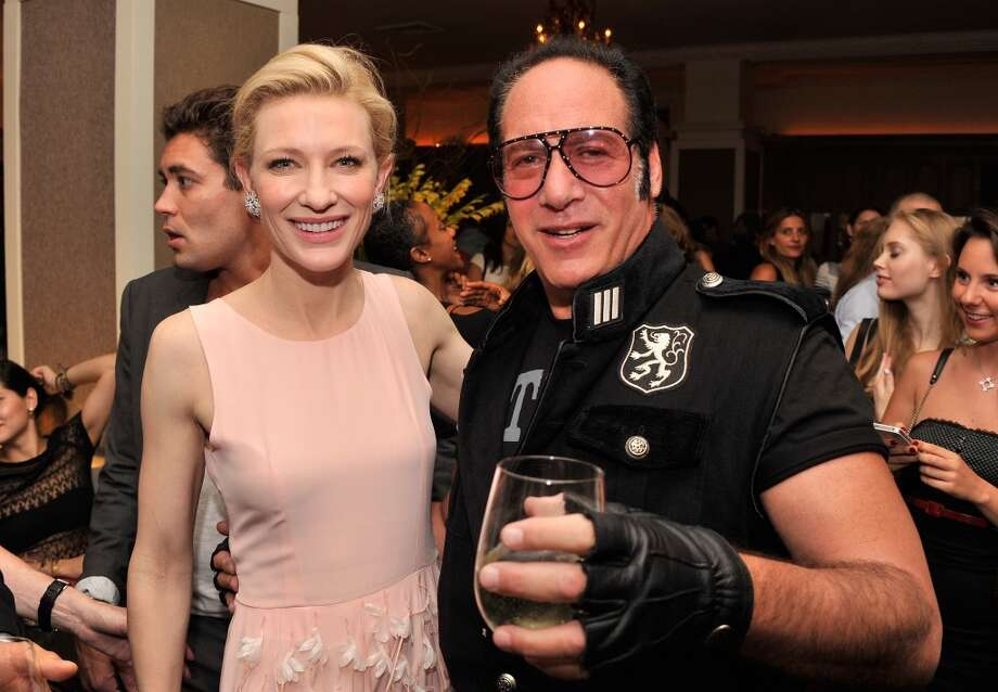 "Actress Cate Blanchett and actor/comedian Andrew Dice Clay attend the after party for the New York Premiere  of ""Blue Jasmine"" at Harlow on July 22, 2013 in New York City.  (Photo by Stephen Lovekin/Getty Images)"