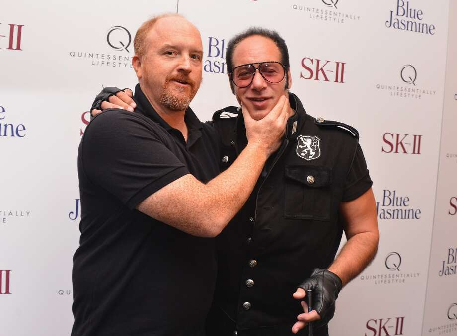"Louis C.K. and Andrew Dice Clay attend the ""Blue Jasmine"" New York Premiere at MOMA on July 22, 2013 in New York City.  (Photo by Stephen Lovekin/Getty Images)"