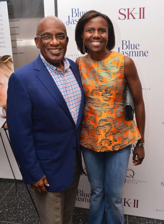 "TV personalities Al Roker and Deborah Roberts attend the ""Blue Jasmine"" New York Premiere at MOMA on July 22, 2013 in New York City.  (Photo by Stephen Lovekin/Getty Images)"