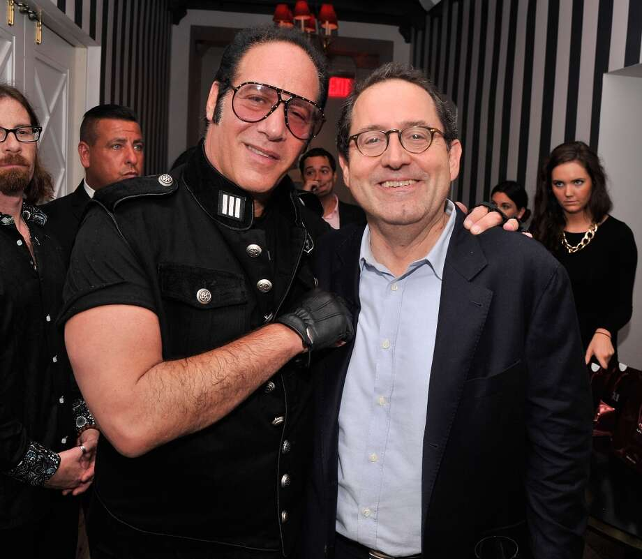 "Actor/comedian Andrew Dice Clay and Sony Pictures Classics co-president Michael Barker attend the after party for the New York Premiere of ""Blue Jasmine"" at Harlow on July 22, 2013 in New York City.  (Photo by Stephen Lovekin/Getty Images)"