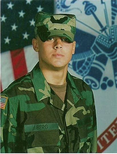 Army Spc. Ryan Berg, 19, of Sabine Pass died Jan. 9, 2007, when a sniper's bullet hit him in the sho