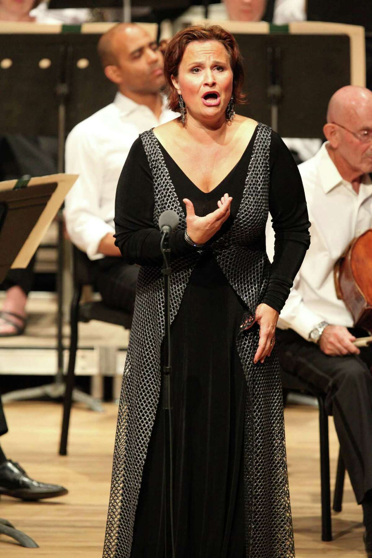 Soloists Katarina Dalayman during the performance of Wagner's Die Walkure, Act 3 (Hilary Scott)
