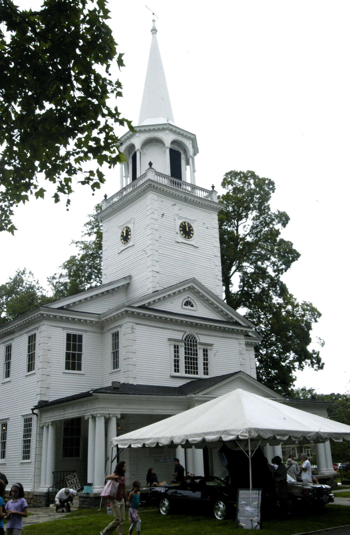 The church stands watch over the proceedings July 13, 2013 during the Washington Congregational Church's annual Green Fair.