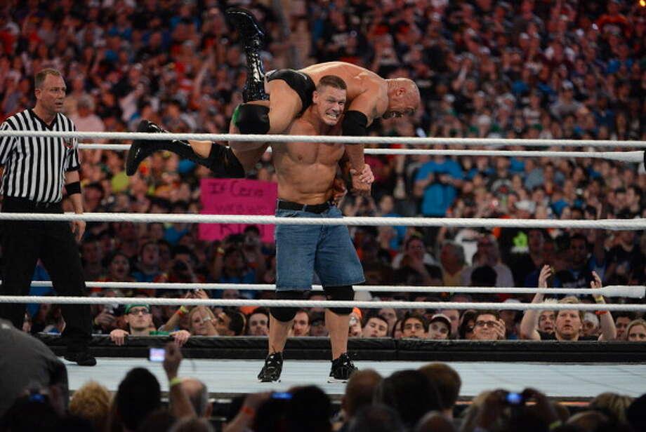 John Cena has a record 300 Make- A-Wish Foundation appearances. Photo: Ron Elkman/Sports Imagery, Getty Images / 2012 Ron Elkman/Sports Imagery