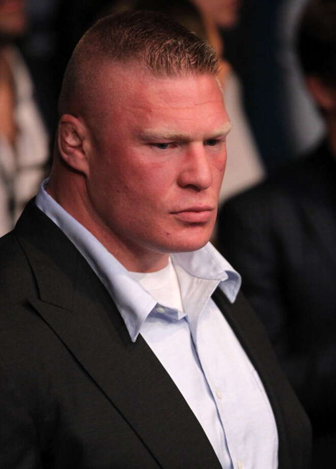 Brock Lesnar is a former UFC champion. Photo: Josh Hedges/Zuffa LLC, Zuffa LLC Via Getty Images / 2012 Josh Hedges/Zuffa LLC