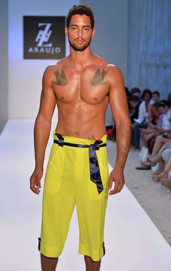 Even men will be wearing their pajama bottoms to the pool. Photo: Frazer Harrison, Getty Images For Mercedes-Benz Fashion Week Swim 2014 / 2013 Getty Images