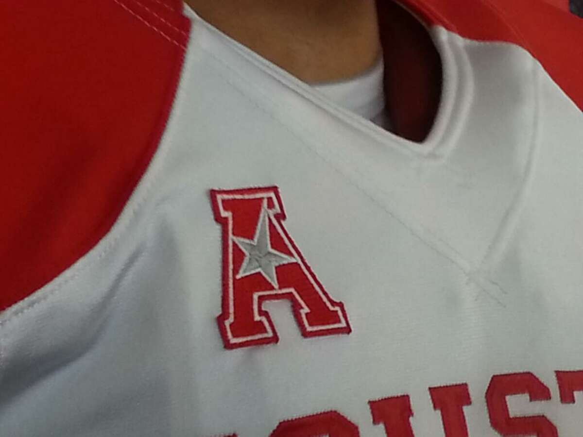 The American Athletic Conference logo appears on the right side of the new jersey.