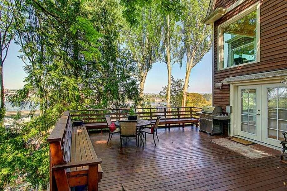 Deck of 2448 Delmar Drive East. It's listed for $799,000. Photo: Courtesy Steve Leland, Windermere Real Estate
