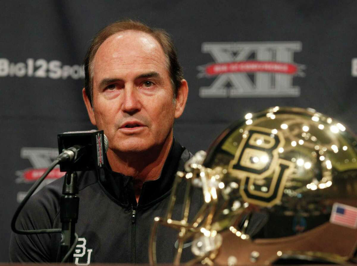 Baylor football coach Art Briles addresses the media during the NCAA college Big 12 Conference Football Media Days Tuesday, July 23, 2013 in Dallas. (AP Photo/Tim Sharp)