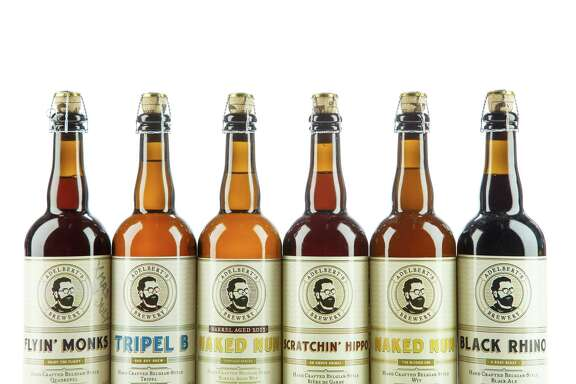 Bottles of beer from Adelbert's Brewery in Austin, photographed in the Houston Chronicle Photo Studio,Thursday, July 18, 2013, in Houston. ( Michael Paulsen / Houston Chronicle )