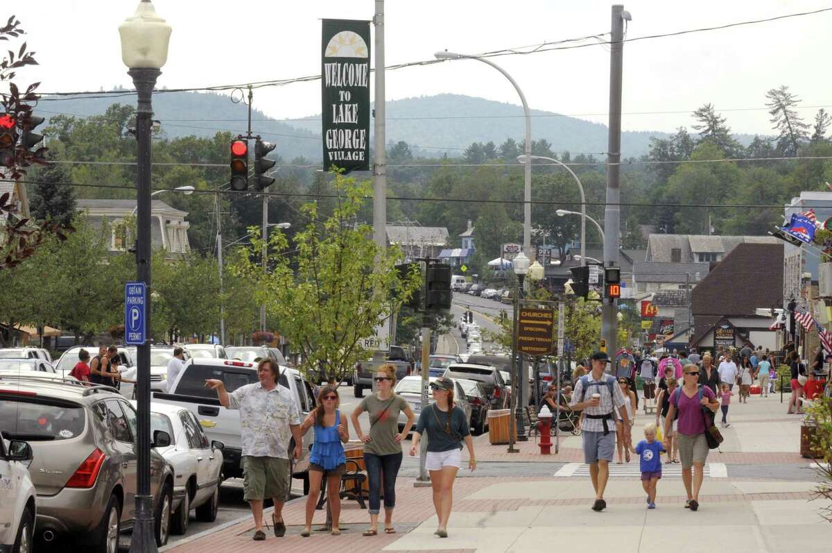 A bustling Canada Street in Lake George, NY Friday Aug. 17, 2012. (Michael P. Farrell/Times Union)