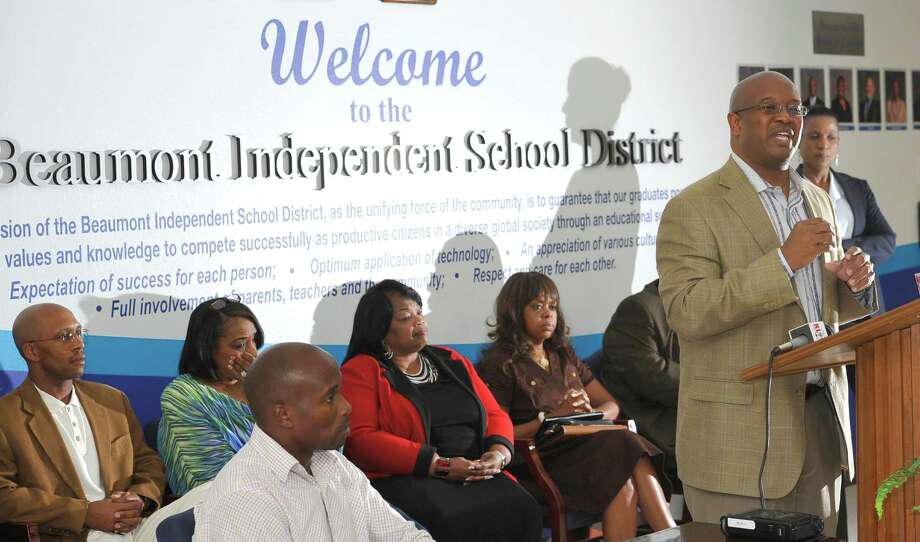 Superintendent Timothy Chargois has been in office for almost a year in Beaumont, and Tuesday July 23, 2013, he held a press conference.   Chargois and his team were on hand to address overall performance, any myths, any misinformation and all facts surrounding his first school year as the chief executive officer for BISD. He  also discussed plans for the 2013-2014 school year, which starts in a few weeks.  Dave Ryan/The Enterprise Photo: Dave Ryan