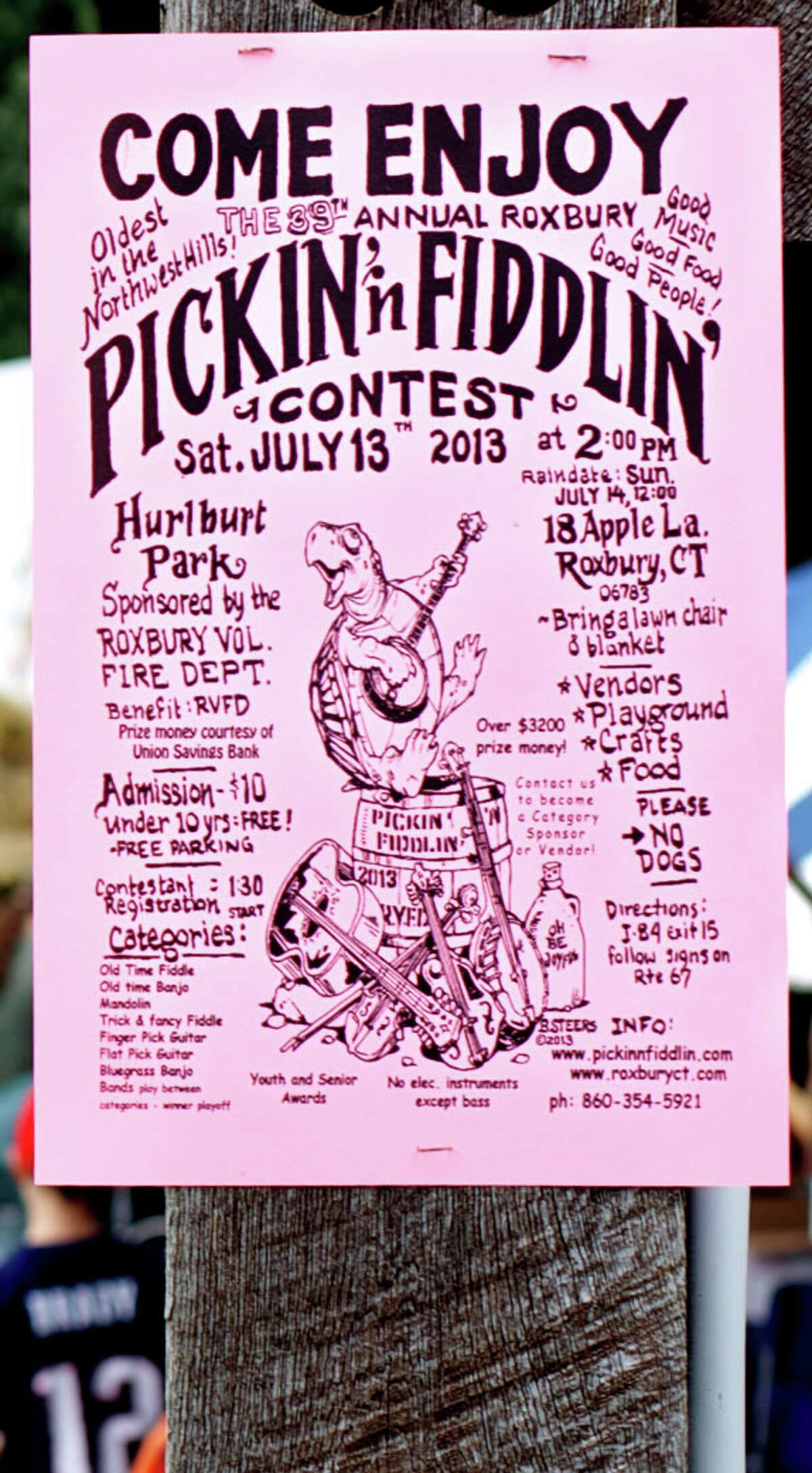 The 39th annual Roxbury Pickin'n Fiddlin' contest held court for a large throng of its loyal fans July 13 at Hurlburt Community Park along West Apple Lane in Roxbury.