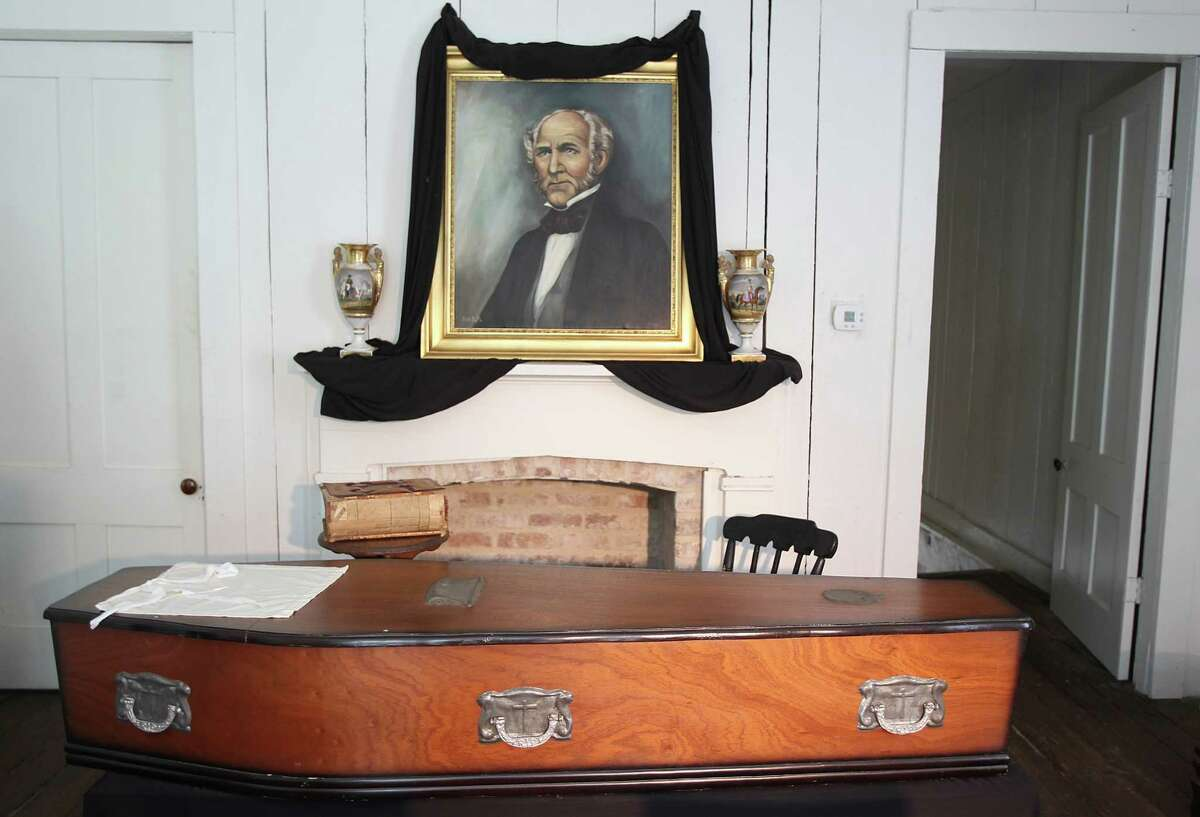 Sam Houston's funeral, which was not well attended, was held in the funeral parlor at the Steamboat House. Sam Houston State University is commemorating the 150th anniversary of Sam Houston's death on July 26 and will open doors of the Steamboat House for public tours in Hunstville.